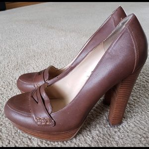 Guess High Heel Penny Loafers